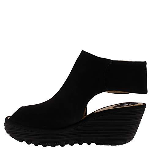 Yone Noir Fly Nubuck Sandals London 642 Womens UrBYfExB