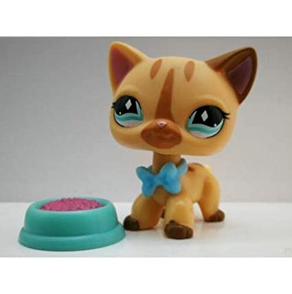 Amazon.com: Littlest Pet Shop - Figura de gato de pelo corto ...