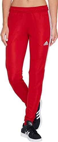 adidas Women's Soccer Tiro 17 Training Pants, Power Red/Whit