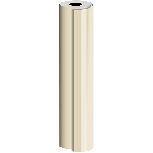 JAM Paper® Industrial Size Bulk Wrapping Paper Rolls - Matte Champagne - 1/4 Ream (520 Sq Ft) - Sold Individually by JAM Paper
