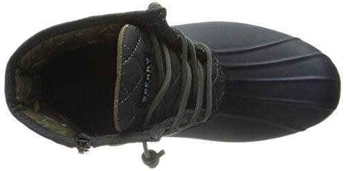 Sperry Glossing, Stivali Da Pioggia Da Donna, Punta Chiusa Blu Navy / Grigio