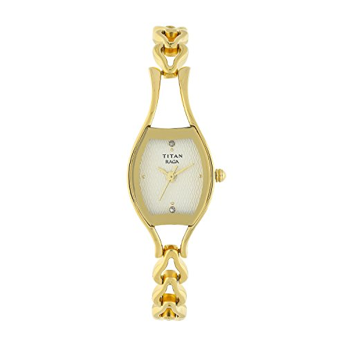 Titan Women s Raga Gold Silver Metal Jewellery, Bracelet Clasp, Quartz Glass, Water Resistant Analog Wrist Watch