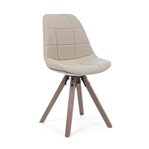 ARREDinITALY - Juego de 2 sillas tapizadas de Tela de Lona, Color ...
