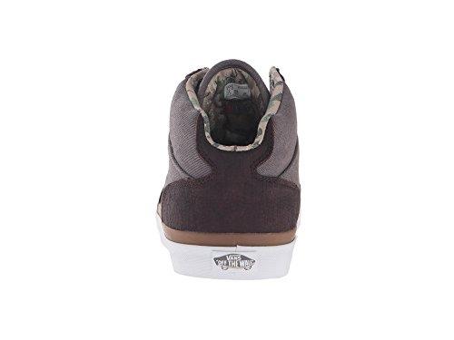 Camionnettes Mens Cowford Desert Cowboy Cheville-haute Chaussure De Skateboard Asphalte / Blanc