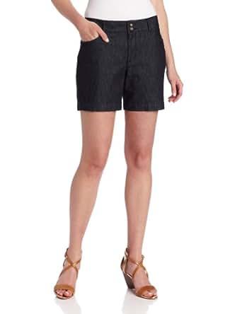 Dockers Women's Curved Pocket Short, Denim True Night, 4 Medium