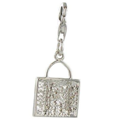 Oscaro Silver Charms Argent 925/1000 Sac à main avec Crystal CZ