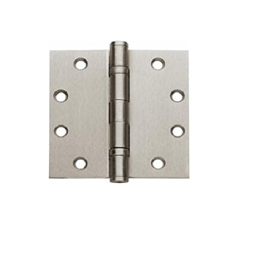 Global Door Controls CP4540BBNRP-US15 Imperial USA 4.5 x 4.0 inch Satin Nickel Full Mortise Ball Bearing Nrp Hinge,