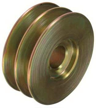 New Pulley, 2-Grooves, 0.87' / 22.2mm ID, 3.35' / 85mm OD, Delco, Ford / 830279, GP589, D4HZ10344A / 24-1509/202-12002 0.87 / 22.2mm ID 3.35 / 85mm OD YUHENN