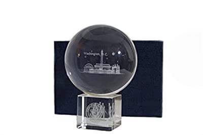 Glass Globe with Panorama View of DC Monuments