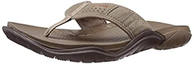 Crocs Men's Swiftwater Flip, Walnut/Espresso, M7