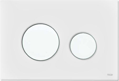 Tece 9240600 Teceloop Cover Plate with Actuator 2Flushes of Different Powers White
