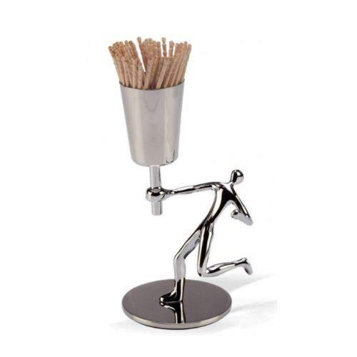 (Mukul Goyal Chrome Figure Bazaar Toothpick Holder)