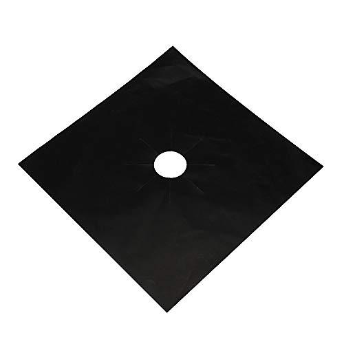 Yu2d  2PCS Universal Stove Burner Covers Protector Sheets Oven Liner Reusable BK(Black) for $<!--$1.80-->