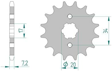 Pignon AFAM 16 dents acier standard pas 428 type 20209 Derbi 125 R Senda