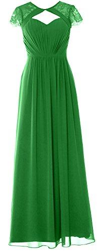 2018 Green Gown Elegant Formal Dress Bridesmaid MACloth Cap Sleeves Long Evening TqwwOpU