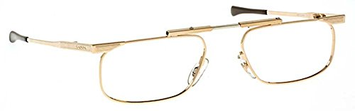 SlimFold Reading Glasses by Kanda of Japan Model 5 Color Gold Strength +1.75