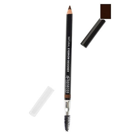 (Benecos Eyebrow-Designer, All-Natural Eyebrow Pencil and Brush - Soft, Subtle, Natural Look, Vegan (Brown))