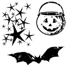 Inkadinkado Clear Mini Stamps, (Halloween Clear Mini Stamps)