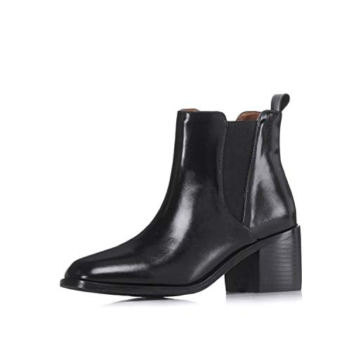 à Talon Talon Bottines Black à Bottines carré wFTvAW6q