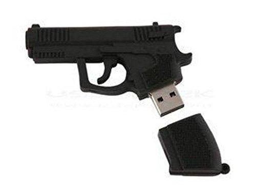 Sandios Black Gun toy model pen drive 8GB USB 2.0 Memory Stick Flash Drive USB