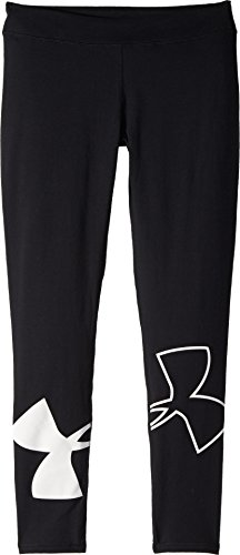 Under Armour Kids Girl's Favorite Knit Leggings (Big Kids) Black/White X-Large by Under Armour (Image #1)