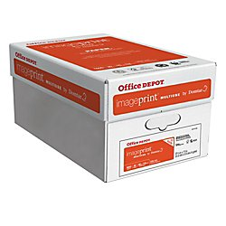 Office Depot ImagePrint FSC Certified Multiuse Paper by Domtar, 8 1/2in x 11in, 20 Lb, White, 500 Sheets Per Ream, Case Of 10 Reams, 1821 (Office Depot Copy Paper)