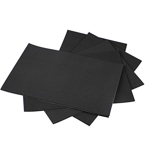 (Rubber Sheet, Self Stick Weather Strip Adhesive Non-Slip Furniture Foam Pads Black Rubber Insulation Foam Tape 12 Inch Long X 8 Inch Wide X 1/8 Thickness(5Pcs))