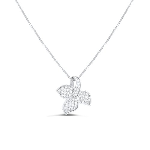 Sterling Silver Leaf Charm Necklace product image