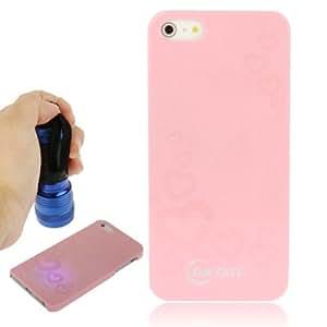 Sun Funda Case Cover Series Magic Plastic invisible Fluorescent Effect Case Cover Carcasa para iPhone 5 5S & (Pink)