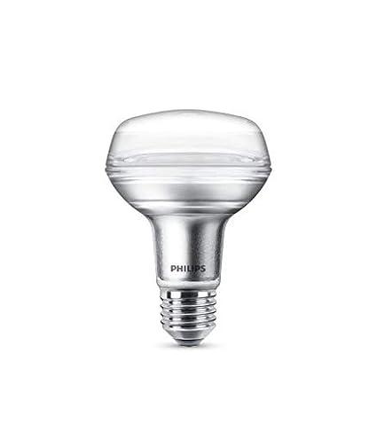 Philips bombilla LED reflectora casquillo gordo E27, ángulo de apertura 36º, 4 W equivalentes a 60 W en incandescencia, 345 lúmenes, luz blanca cálida