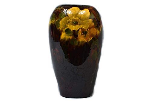 (Weller Pottery 1898-1910 Aurelian Roses Vase 504 6 L Knaus)
