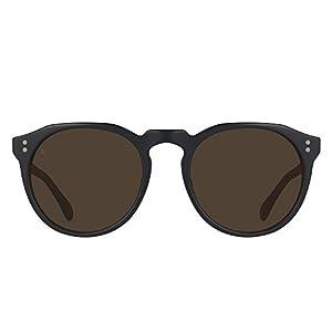 RAEN Optics Unisex Remmy 49 Black/Tan Brown One Size