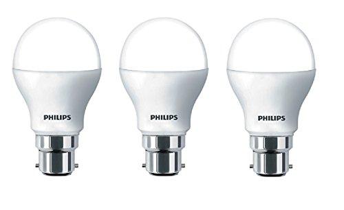 Philips Base B22 4-Watt LED bulb (Cool Day Light,Pack of 3)