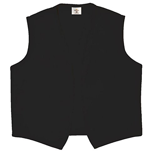 Rexzo Unisex Vest No Pocket No Buttons- Made in The USA - Black, Large -