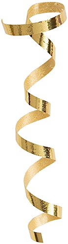 Curling Ribbon wide Gold yards