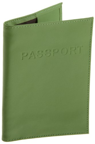 Lewis N. Clark  Leather Passport Case,Green,One Size