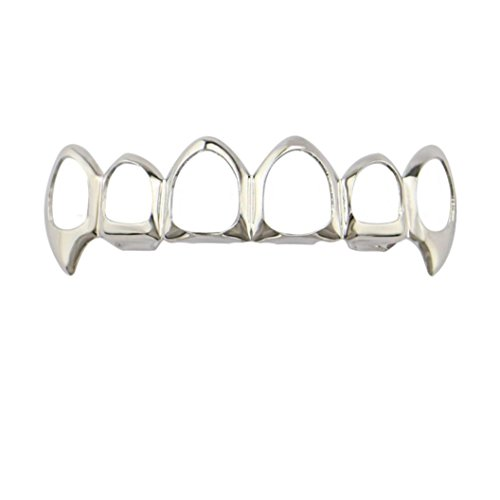 Inverlee 1Pcs Hip Hop Teeth Grillz Top Or Bottom Mouth Teeth Grills Fashion Removable -