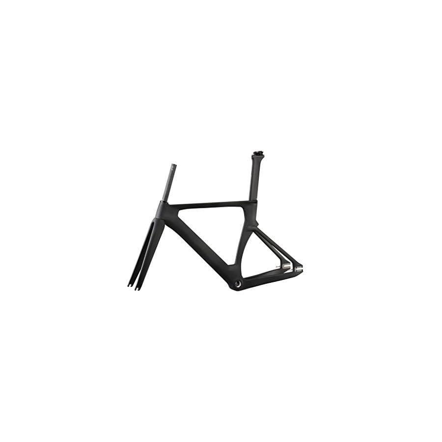 ICAN Full Carbon 700C Aero Fixed Gear Track Bike Frameset BSA 49/51/54/56cm