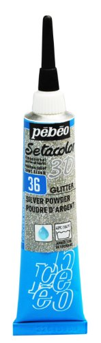Pebeo Setacolor Fabric Glitter Silver product image