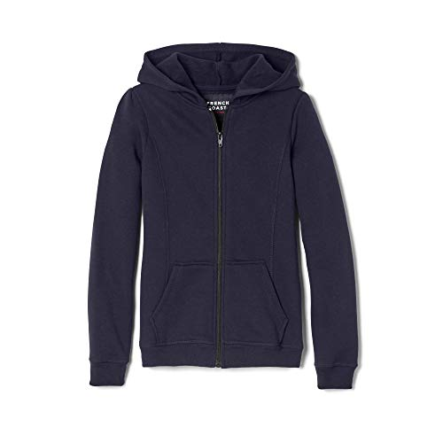 French Toast Girls' Little Fleece Hoodie, Navy,