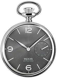 [エポス] メンズ レディース 懐中時計 ポケットウォッチ 手巻き POCKET WATCH 2003PAGY 灰 グレー