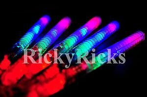 12 Light-Up Strobe Sticks Flashing Patrol Wands LED Glow Blinking Rave Party EDC from Unknown