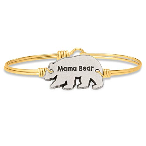 (Luca + Danni Mama Bear Bangle Bracelet - Regular/Brass Tone )