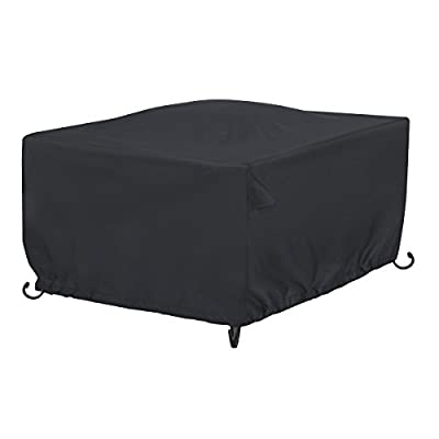 "AmazonBasics Square Patio Fire Pit/Table Cover - 42"", Black"