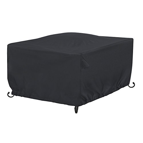 AmazonBasics Square Patio Fire Pit/Table Cover – 42″, Black