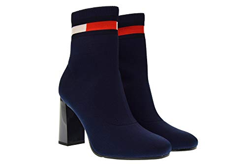 406 Chaussures Hilfiger Tommy Femme Boot Sock Bottines Bleu EN0EN00277 Heeled wqXxS7B5x