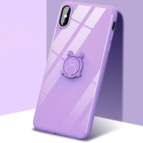 (iPhone Xs Max Bling Ring Stand Case,Aulzaju iPhone Xs Max Beauty Silicone Soft TPU Shiny Cute Crystal Back Cover for Girls Women(iphone XS MAX 6.5 inch, Purple))