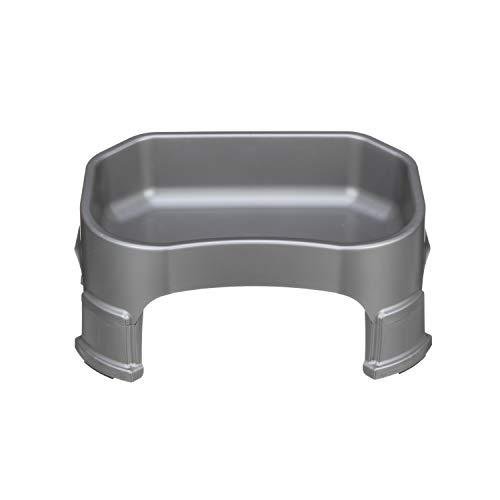 (NEATER PET BRANDS Big Bowl with Leg Extensions - Gunmetal Grey : Huge Jumbo Trough Style Dog Pet Water Dish )