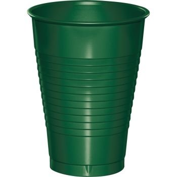 Premium 12 oz Plastic Cups, Hunter Green