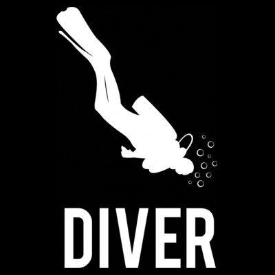Sudadera con capucha de mujer Scuba Diver by Shirtcity Negro